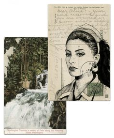 Shelly Johnson postcard by Paul Willoughby. From In the Trees: Twin Peaks 20th Anniversary Art Exhibition