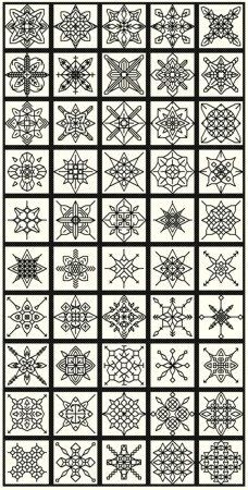 50 Blackwork Snowflakes by sebadesigns on Etsy https://www.etsy.com/listing/163539278/50-blackwork-snowflakes