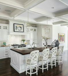 Love those chairs! And the kitchen is beautiful too.