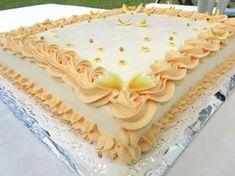 Äitini 60-vuotiskakku, suorakaiteen muotoinen - Onnelin pikku keittiö - Vuodatus.net Vanilla Cake, Desserts, Cake, Decorations, Tailgate Desserts, Deserts, Dessert, Food Deserts