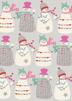 Illustration Christmas print & pattern: XMAS 2013 - victoria johnson