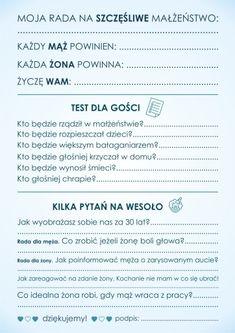 Ankieta weselna dla gości - dwustronna! PDF! 7460195044 - Allegro.pl