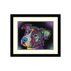 ''In a Perfect World'' Framed Wall Art, Black