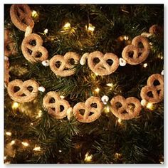 @Lisa Phillips-Barton Berube What about making a real  Pretzel Garland for Oktoberfest? Bag o pretz and some blue or white ribbon?