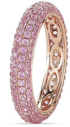 Dana Rebecca Designs Melissa Louise 14K Rose Gold and Pink Sapphire Ring on shopstyle.com