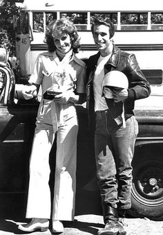 The Fonz and Pinky Tuscadero. Growing up in the 70's left me with some pretty odd cherished memories.