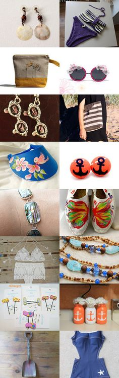 Vintage beach items by Puce Knitting on Etsy--Pinned with TreasuryPin.com