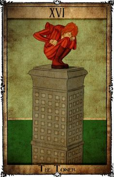 Bowie Tarot Collection - XVI - The Tower by Triever on DeviantArt
