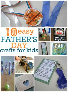 10 Easy Fathers Day Crafts - No Time For Flash Cards
