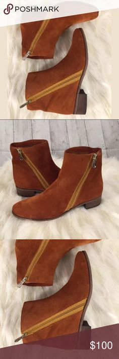 See By Chloe Boots 41 Ankle Booties Boots US 11 See By Chloe Boots 41 Womens Suede Ankle Booties Boots Diagonal Zipper Size US 1 See By Chloe Shoes Ankle Boots & Booties