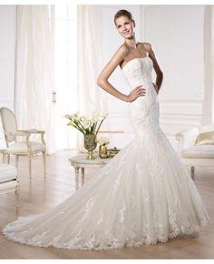 Wunderschön Meerjungfrau Brautkleider aus Spitze