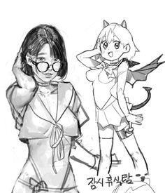 Drawing Sketches, Cool Drawings, Character Illustration, Illustration Art, Manga Art, Anime Art, Figure Sketching, Korean Art, You Draw