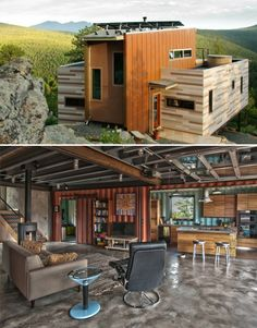 House made completely out of shipping containers.