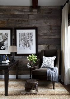 Terrific Love this wood wall. Chick home decore                                                                                                                                                     ..