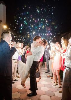 Aside from the fabulous photos ops, your wedding exit is the grand finale to one of the most spectacular days of your life. Jumpstart your happily ever after with our favorite wow-worthy ways to make a more than memorable exit. #memorableexit #weddingexit #weddingphotos
