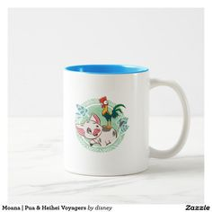 Moana | Pua & Heihei Voyagers. Regalos, Gifts. Producto disponible en tienda Zazzle. Tazón, desayuno, té, café. Product available in Zazzle store. Bowl, breakfast, tea, coffee.  Link to product: http://www.zazzle.com/moana_pua_heihei_voyagers_two_tone_coffee_mug-168500031067218121?CMPN=shareicon&lang=en&social=true&rf=238167879144476949 #taza #mug #moana