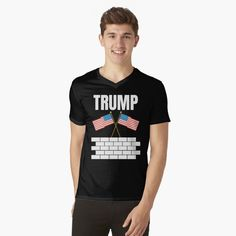 TRUMP 2020 election - Get yourself a funny custom desing from RIVEofficial Redbubble shop : )) .... tags: #president   #usa #donaldtrump  #funny #trump #buildawall #wall #humour #republican  #democrat #election #trump #2020 #findyourthing #shirtsonline #trends #riveofficial #favouriteshirts #art #style #design #nature #shopping #insidecollection #redbubble #digitalart #design #fashion #phonecases #access #customproducts #onlineshopping #accessories #shoponline #onlinestore #shoppingonline Stylish Shirts, Cute Tshirts, Tshirt Colors, V Neck T Shirt, Shirt Designs, Fashion Outfits, Mens Tops, How To Wear, Shopping