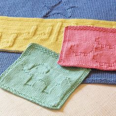 Free Knitting Pattern: Animal Washcloths | DailyCraft - Your Daily Dose of Arts & Crafts Tips, Projects, & Inspiration. Quilting, Sewing, Knitting, Scrapbooking, Card Making and more!