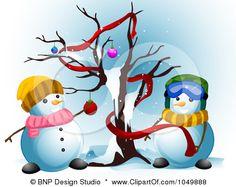 a Snowman Couple Decorating ...