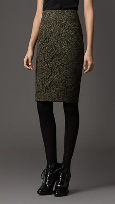 Lace Pencil Skirt, Burberry London, £495.00