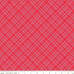 Calico Days Lori Holt Bright Red Plaid Riley Blake by RunnStitch