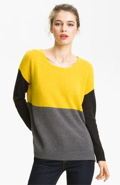 My new favorite color combo!    Joie 'Astaine' Colorblock Sweater | Nordstrom
