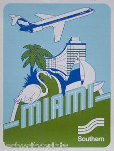 Vintage Poster - Travel - Miami