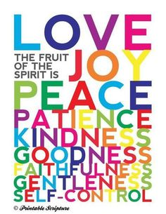 """Fruits of the Spirit"" We have the fruits of the spirit within us. Whenever you feel out of control or want to respond out of your emotions remember you can remain in the will of God and show self-control, love, peace, joy, gentleness, kindness, patience and goodness."""