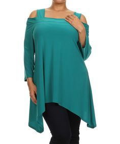 Look what I found on #zulily! Teal Cutout Sidetail Tunic - Plus by Come N See #zulilyfinds