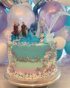 Birthday Cakes Girls Kids, Rapunzel Birthday Cake, Disney Princess Birthday Cakes, Frozen Themed Birthday Cake, Elsa Birthday Party, Frozen Theme Cake, 4th Birthday Cakes, Disney Frozen Birthday, Elsa Frozen Cake