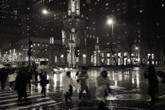 Rainy downtown by zoltaan
