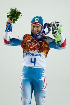 ALPINE SKIING MEN'S SLALOM:  Silver medalist Marcel Hirscher of Austria