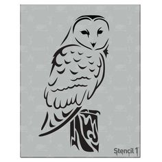 Standard sized stencils measure x with a single image. Make t-shirts using our stencils and fabric paint! Create a mural on your walls! Owl Stencil, Stencils, Stencil Diy, Stencil Designs, Hahn Tattoo, Harry Potter Nursery, Wood Burning Patterns, Owl Art, Line Drawing