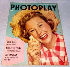 Celebrity Photoplay Magazine March 1955 Debbie Reynolds Danny Kaye Tab Hunter..........9.95
