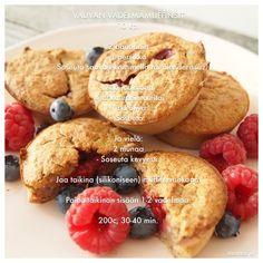 Vauvan vadelmamuffinsit Baby Food Recipes, Dessert Recipes, Healthy Recipes, Desserts, Baby Finger Foods, Kid Friendly Meals, I Love Food, Kids Meals, Nom Nom