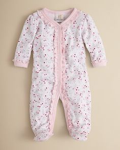 Absorba Infant Girls' Floral Cotton Footie – Sizes 0-9 Months - Newborn (0-9 months) - BABY - Kids - Bloomingdale's