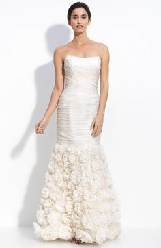Theia Organza Strapless Silk Mermaid Dress #wedding @Michelle Thum