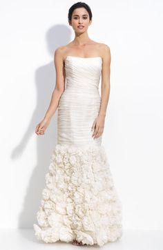 Theia Organza Strapless Silk Mermaid Dress #wedding @Michelle Thum