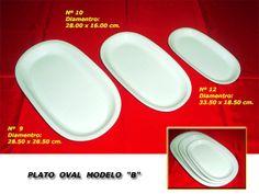 """Plato Oval Modelo """"B"""""""