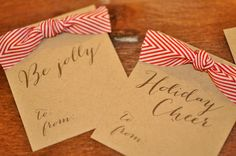 printable Holiday Gift Tags | Smitten On Paper