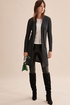 Longline Babywool Cardigan Promotional Events, Shoe Size Conversion, Leather Leggings, Online Purchase, Long A Line, Body Measurements, Long Sleeve Tops, Cardigans, Sweaters