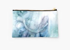 My original watercolour painting was inspired by the beautiful Anais Nin quote 'I must be a Mermaid, I have no fear of depths, and a great fear of shallow living' • Also buy this artwork on bags, phone cases, home decor, and more.