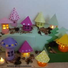 forest or # fairy tale forest tinkering - forest or craftsmanship? Crafts For Kids To Make, Diy And Crafts, Paper Crafts, Easy Fall Crafts, Fall Diy, Cardboard Dollhouse, Hello Winter, Boho Diy, Preschool Art