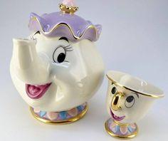 "Mrs.Potts & Chip ""Teapot Set""Beauty and The Beast >Stylish Eve"