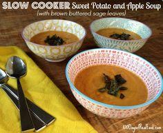 #SlowCooker Sweet Potato and Apple Soup