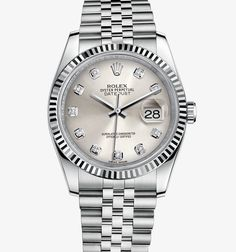 Rolex Datejust 36 mm Watch: White Rolesor - combination of 904L steel and 18 ct white gold – M116234-0084