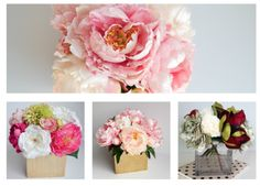 Colors Gone Wild: Living With Color Designs Blog - lifelike artificial flower arrangements- The Pink Chateau