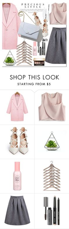 """""""Shein"""" by nastya-d ❤ liked on Polyvore featuring Agent Provocateur, F, Gianvito Rossi, Bobbi Brown Cosmetics and Clarins"""