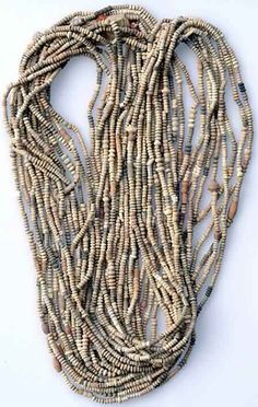 Trade Beads C-62 Mali terra cotta excavated necklace of 10 strands  Length: 45 - 48 inches  Price: $28.00/necklace of 10 strands