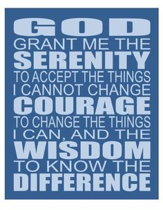 Serenity Prayer Any Color Contemporary Art Print by breedingfancy, $18.00